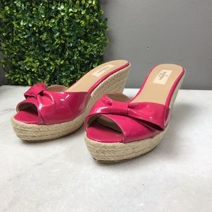 Valentino Pink Bow Wedges